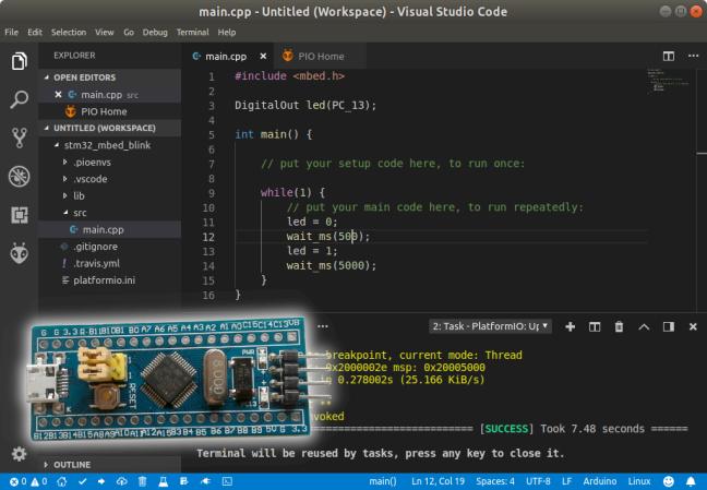 Hướng dẫn lập trình STM32F103 trên Visual Studio Code với Mbed