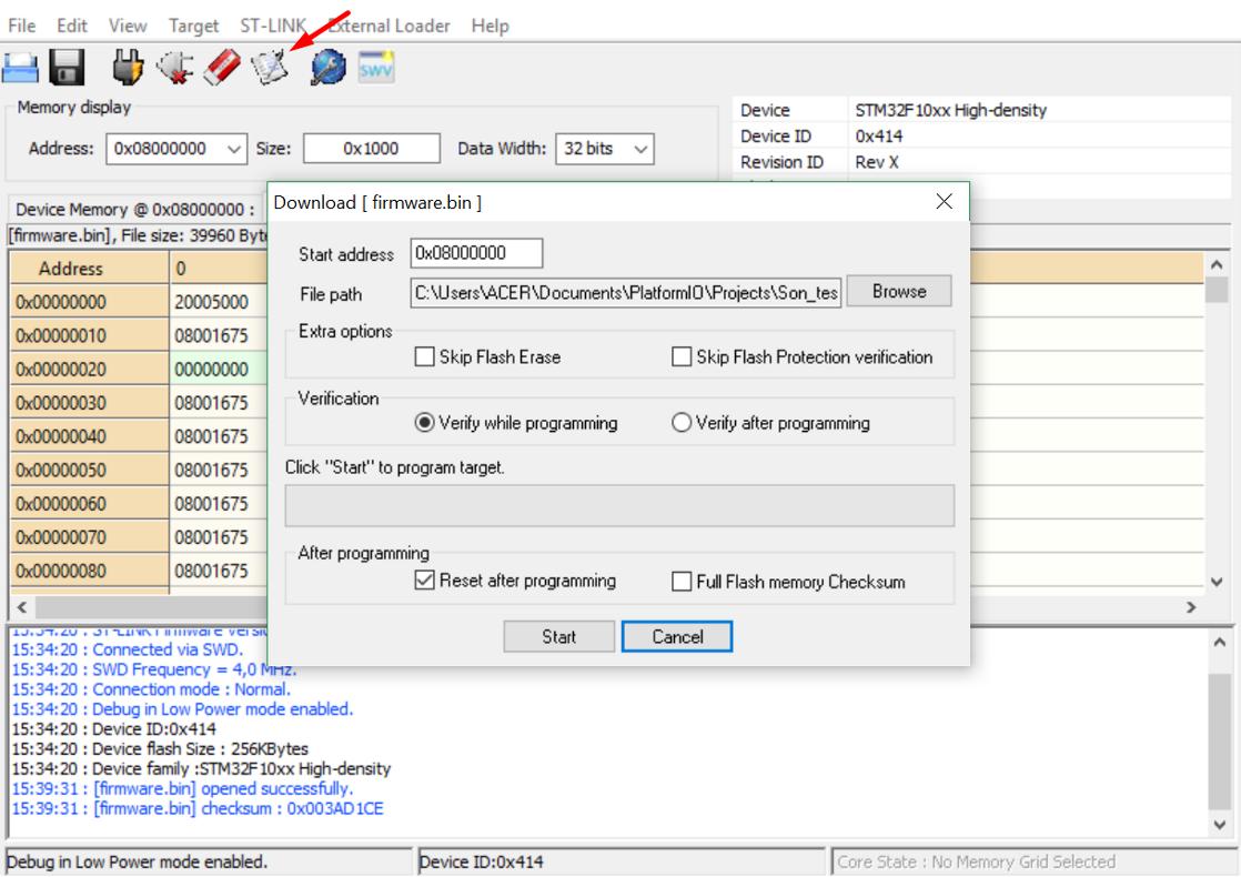 Hướng dẫn lập trình STM32F103 trên Visual Studio Code với
